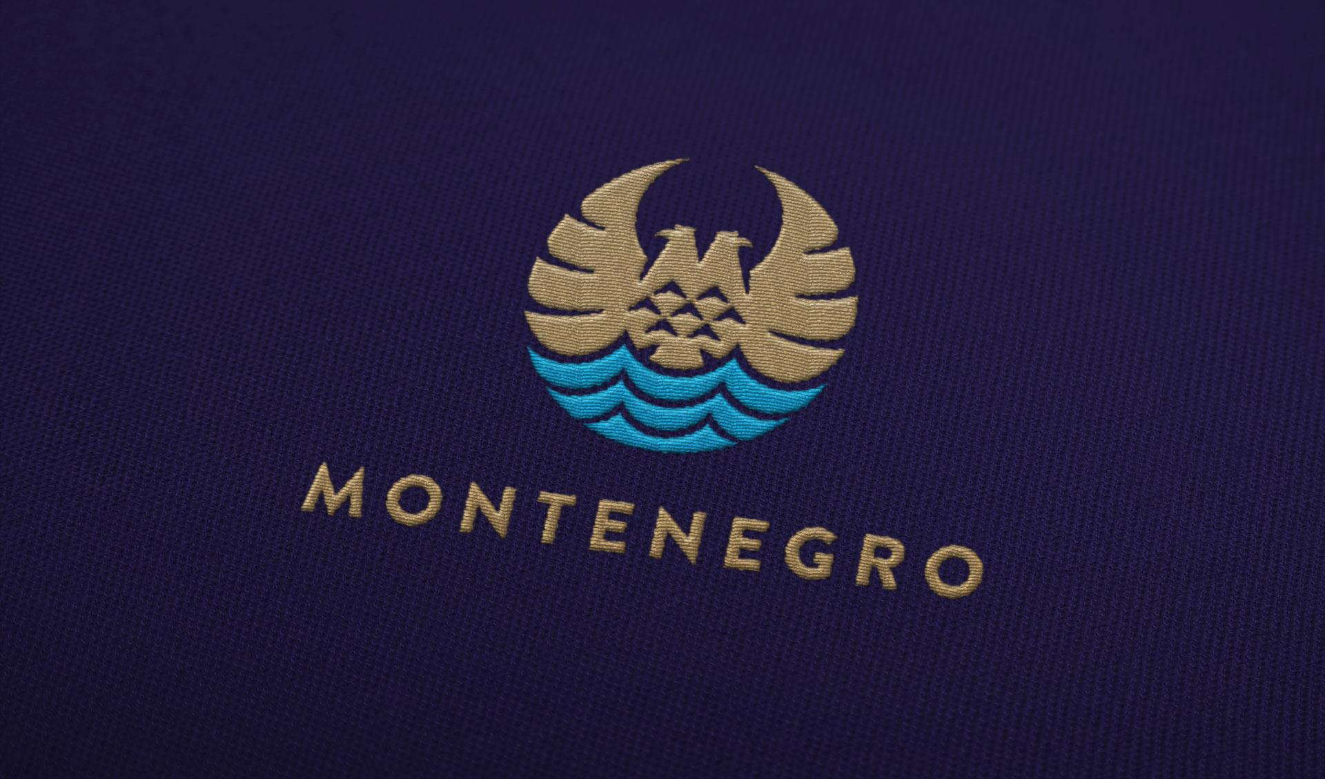 Dizajn logotipa za nacionalni identitet Crne Gore, Montenegro (vez na platnu)