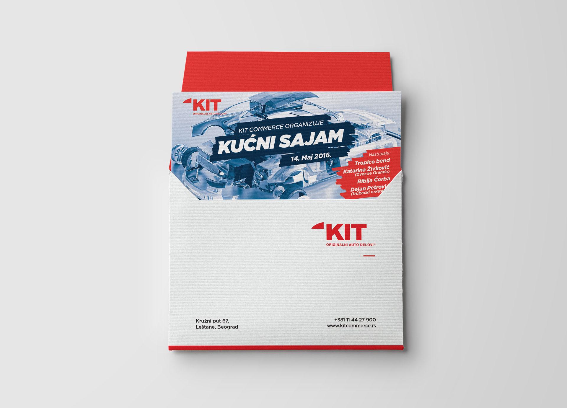 Dizajn pozivnice za proslavu desetogodišnjeg jubileja kompanije KIT Commerce