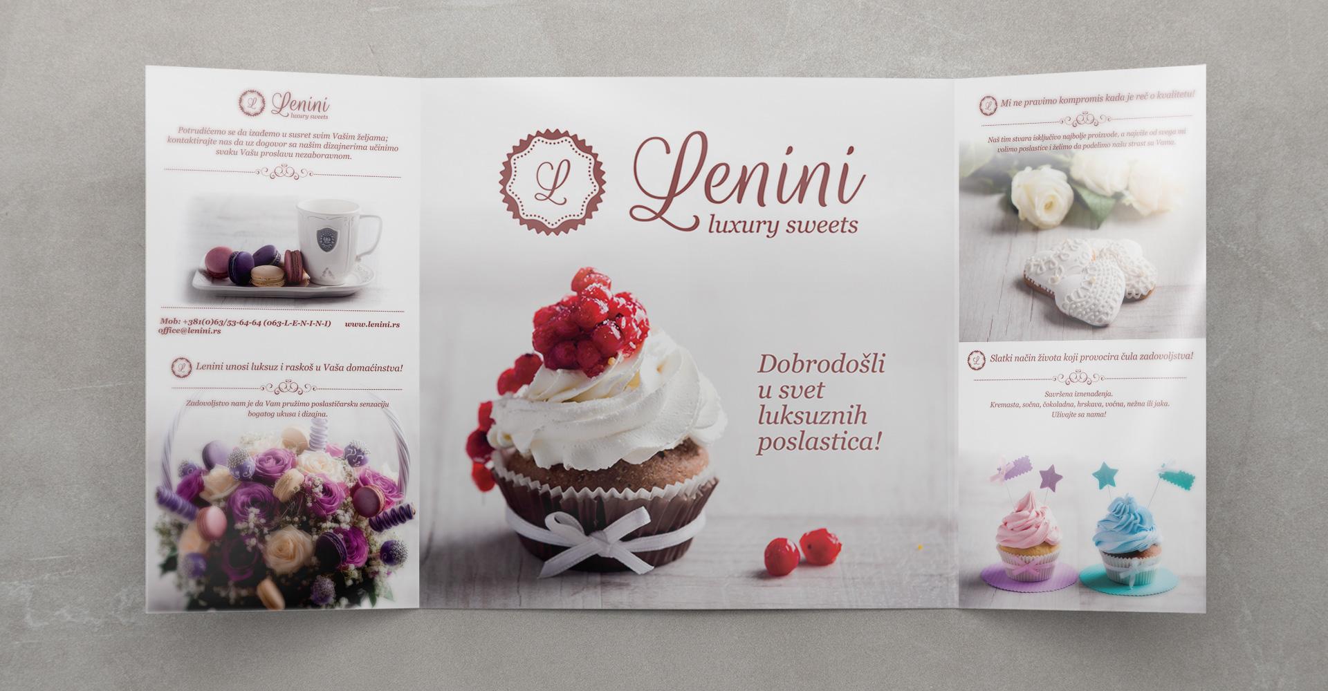 Dizajn brošure za poslastičarnicu Lenini