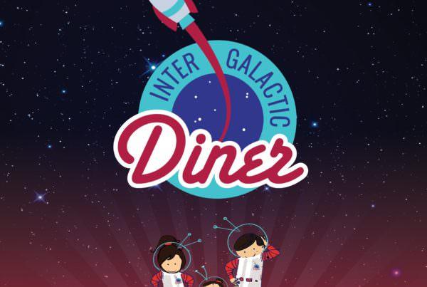 Dizajn vizuelnog identiteta za restoran Intergalactic Diner