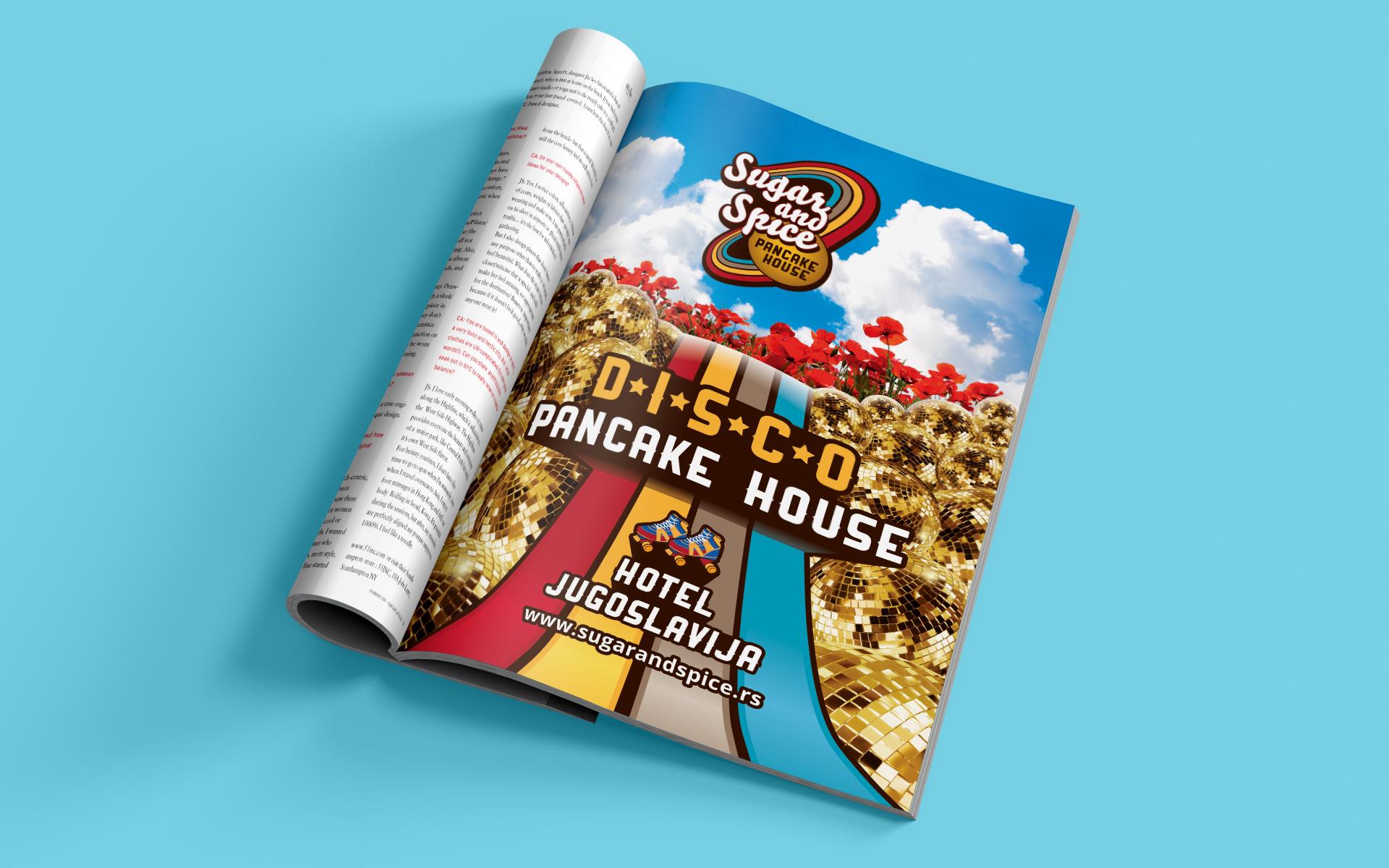 Dizajn novinskog oglasa za restoran Sugar and Spice Beograd