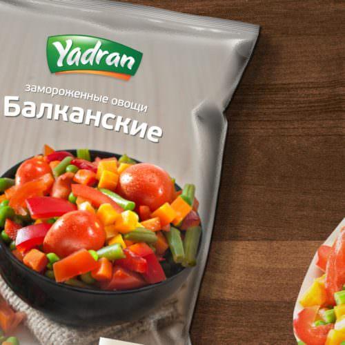 Dizajn i izrada pakovanja za smrznuto povrće Yadran