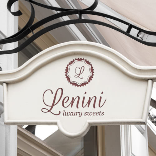 Dizajn reklamne table za poslastičarnicu Lenini