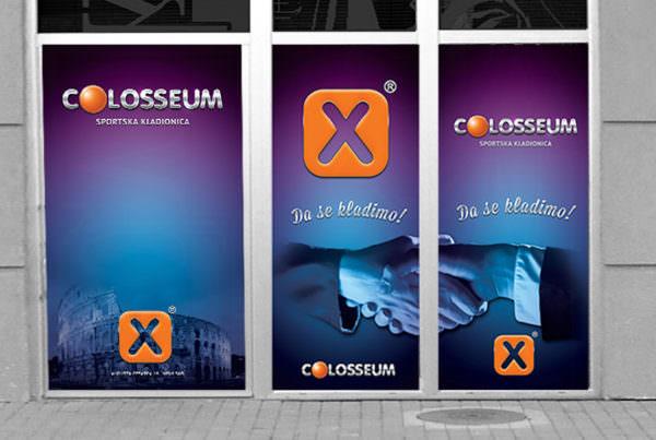 Dizajn izloga za sportsku kladionicu Colosseum