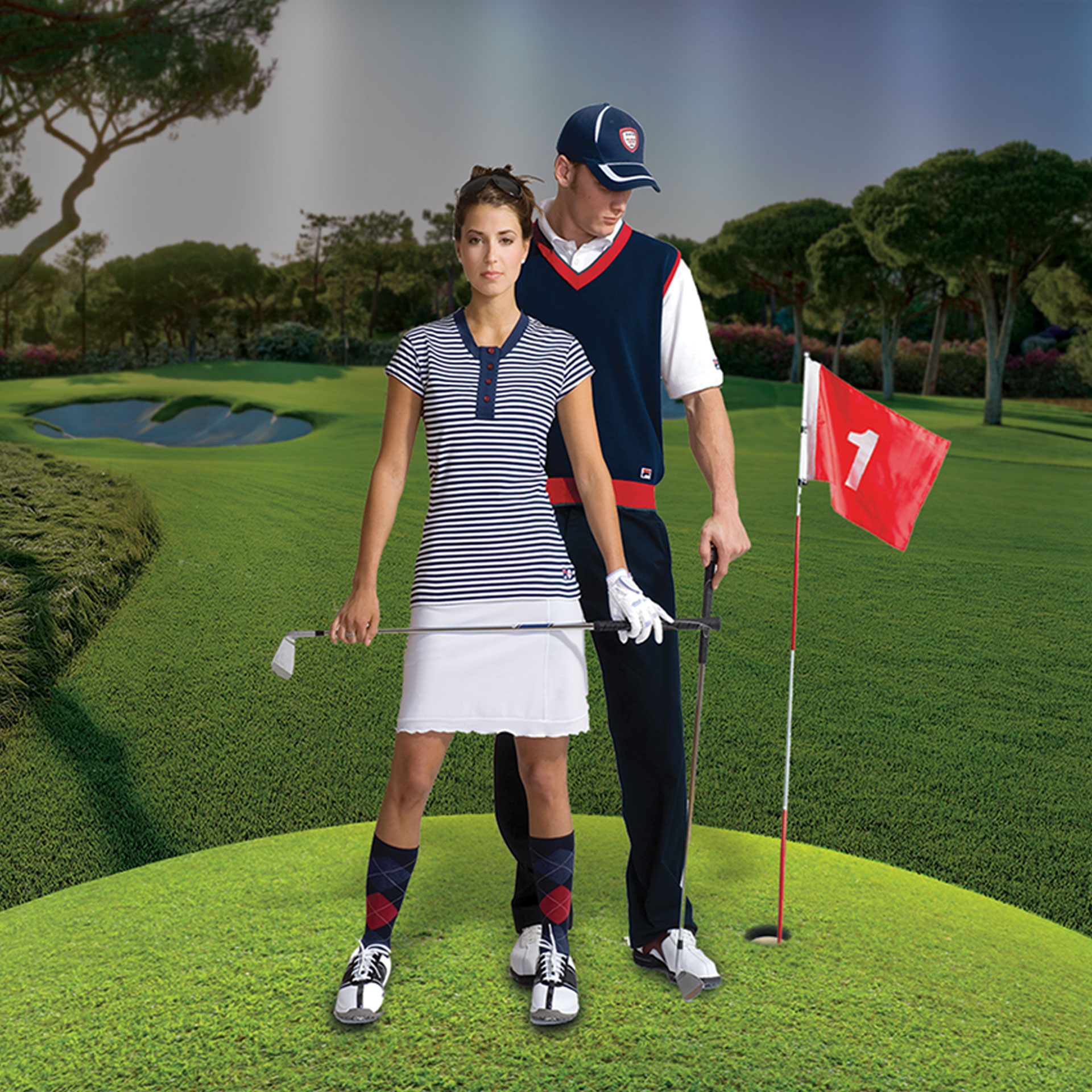 Dizajn i brendiranje izloga za Golfland Shop & Tour
