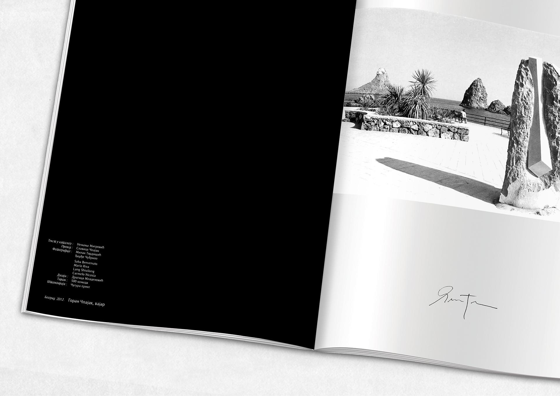 Goran Čpajak - Dizajn kataloga za izložbu vajara