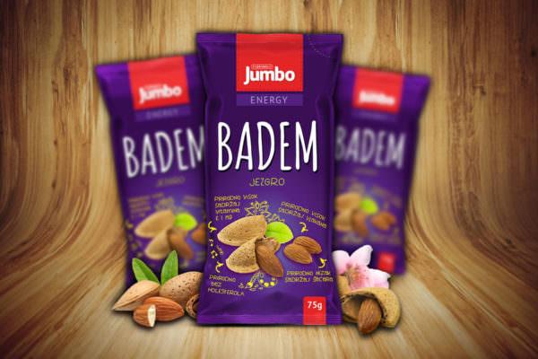 Graphic Beast - Redizajn pakovanja za badem - Jumbo grickalice