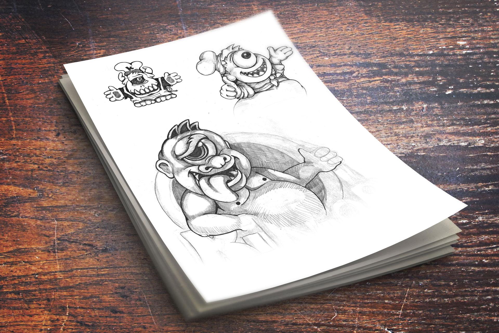 Dizajn maskote za Kiklop fast food