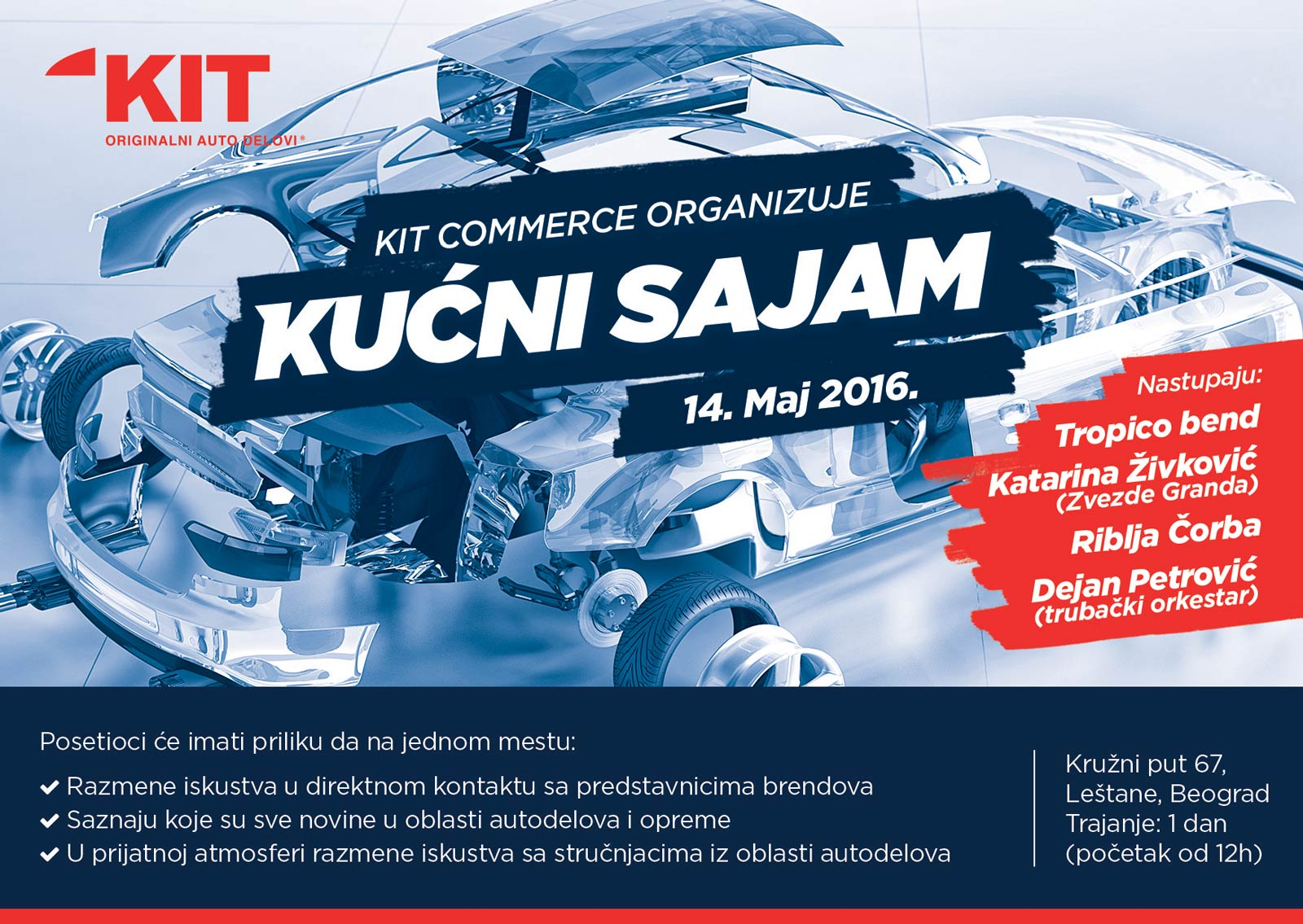 Dizajn pozivnice za kućni sajam povodom desetogodišnjeg jubileja kompanije KIT Commerce