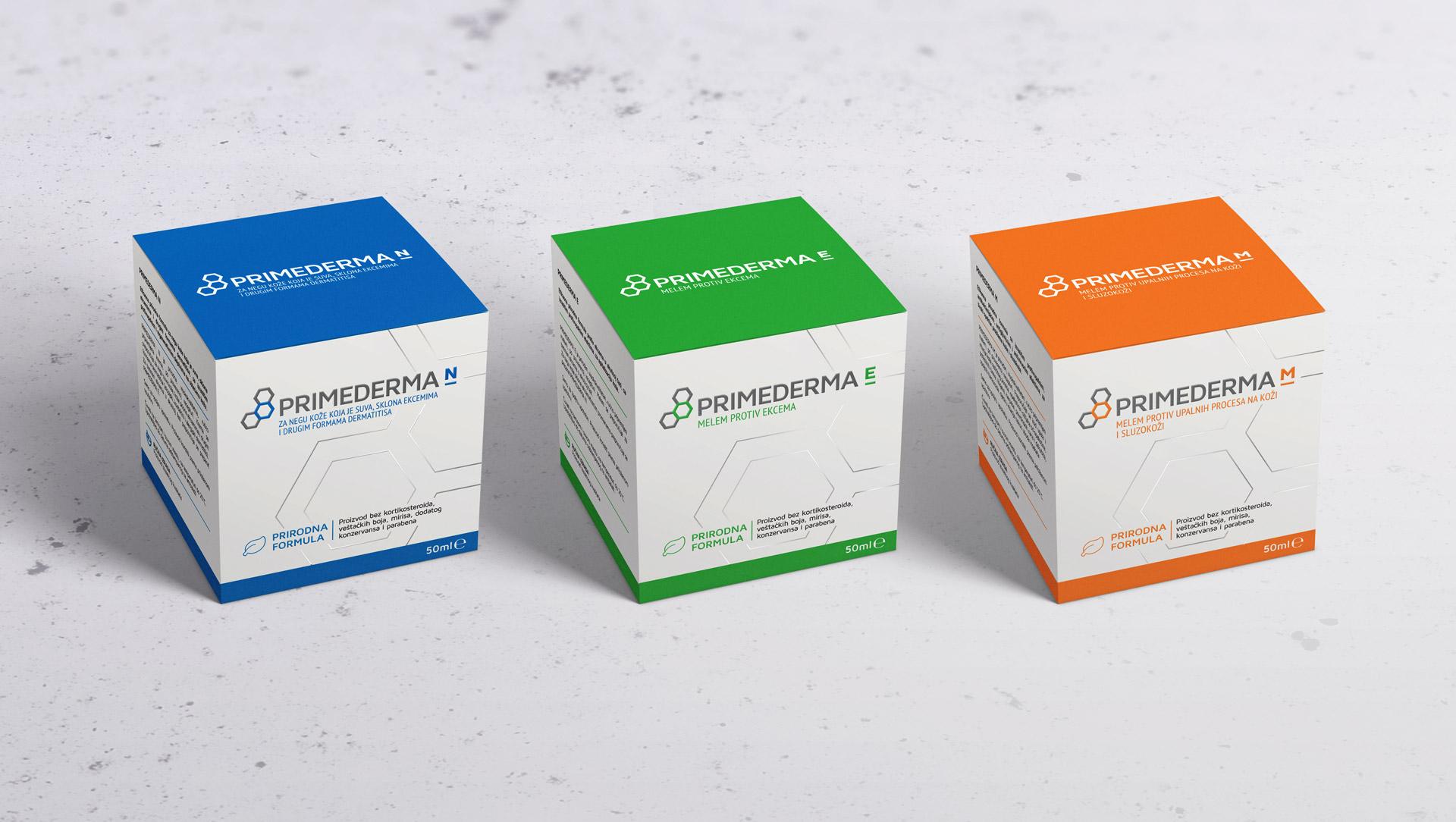 Dizajn i izrada pakovanja za Primedermu