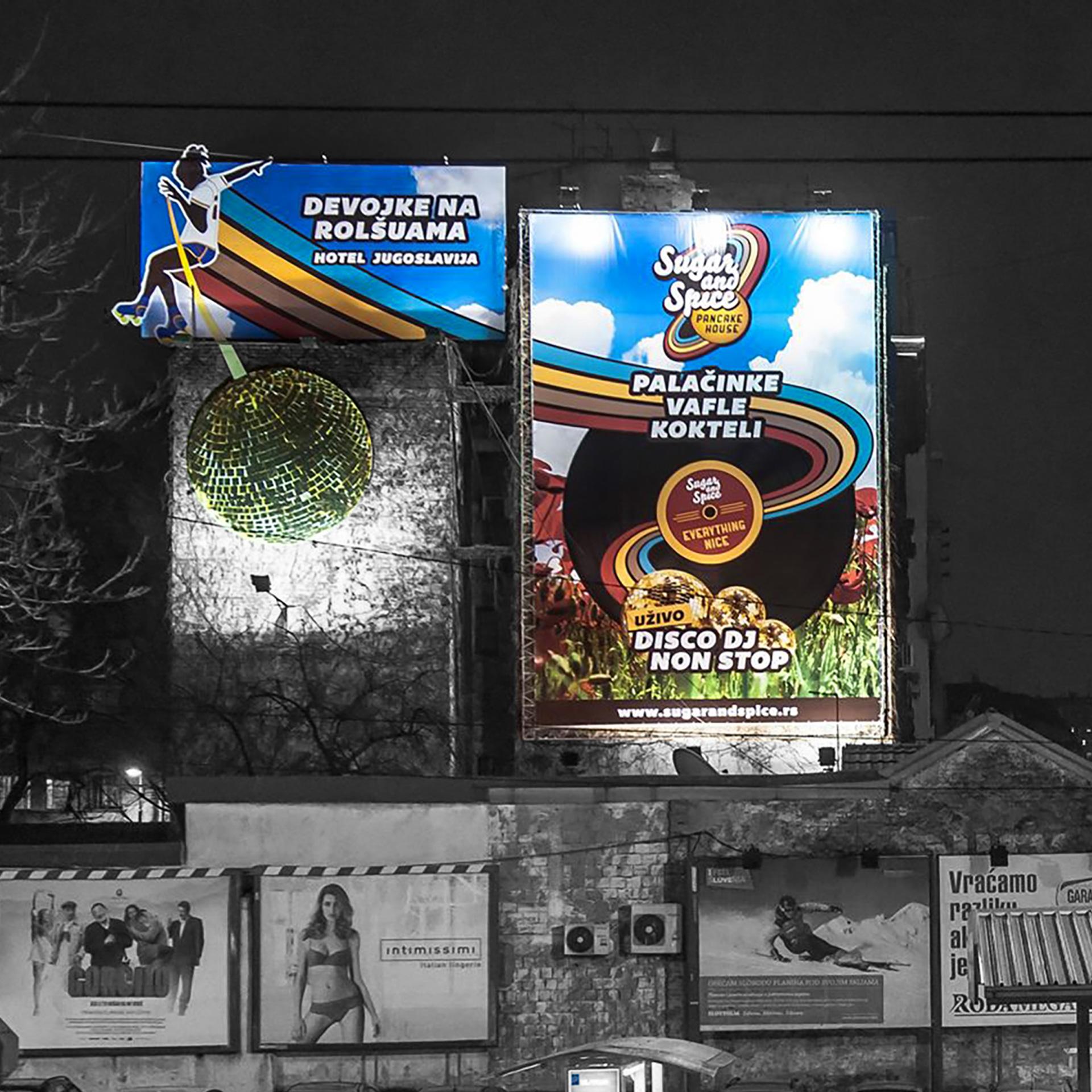 Dizajn bilborda za restoran Sugar and Spice - Slavija, Mekenzijeva ulica