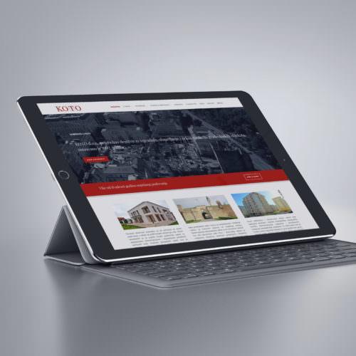 Dizajn i izrada responsive web stranice za građevinsku firmu KOTO