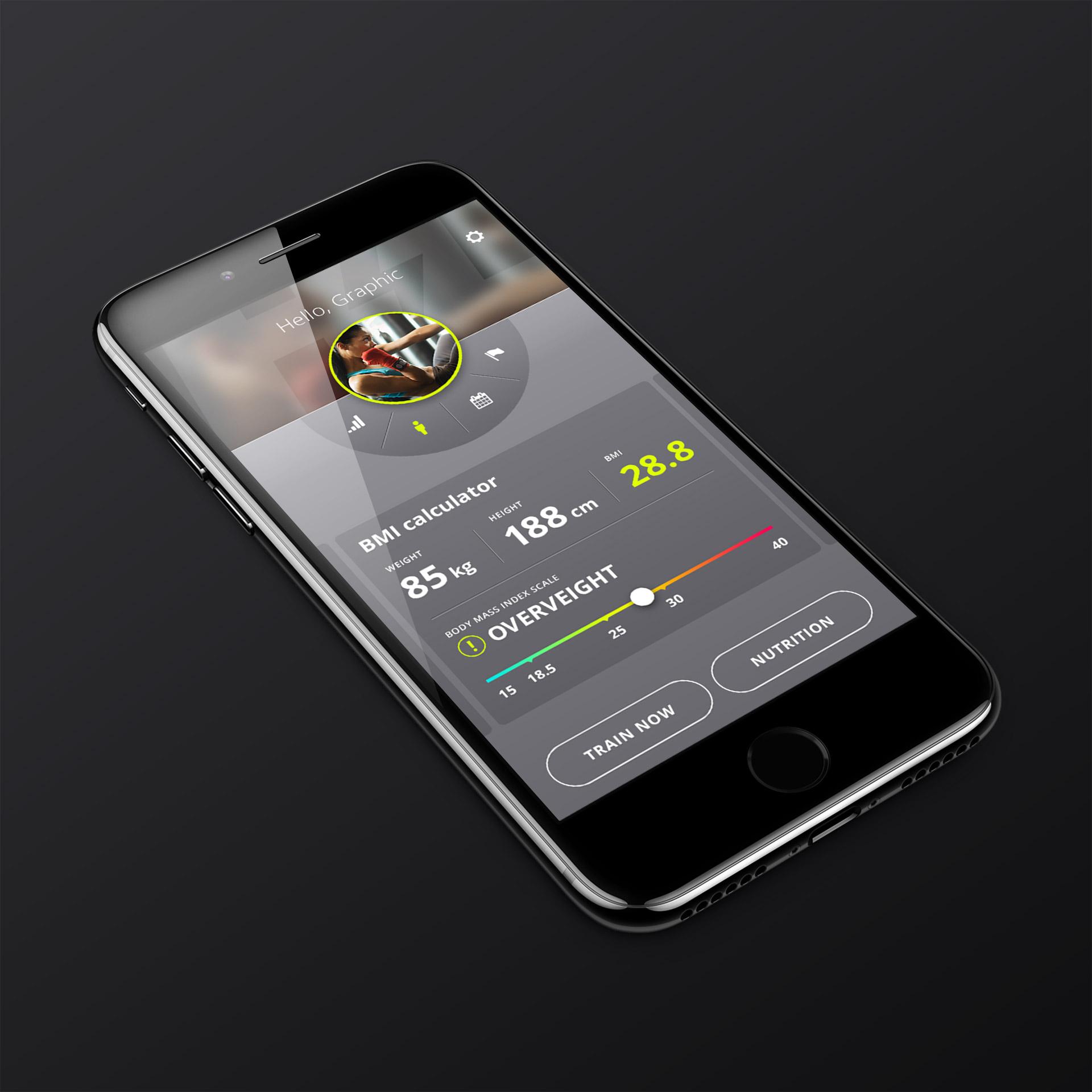 Prikaz dizajna aplikacije za iPhone Healthy Life