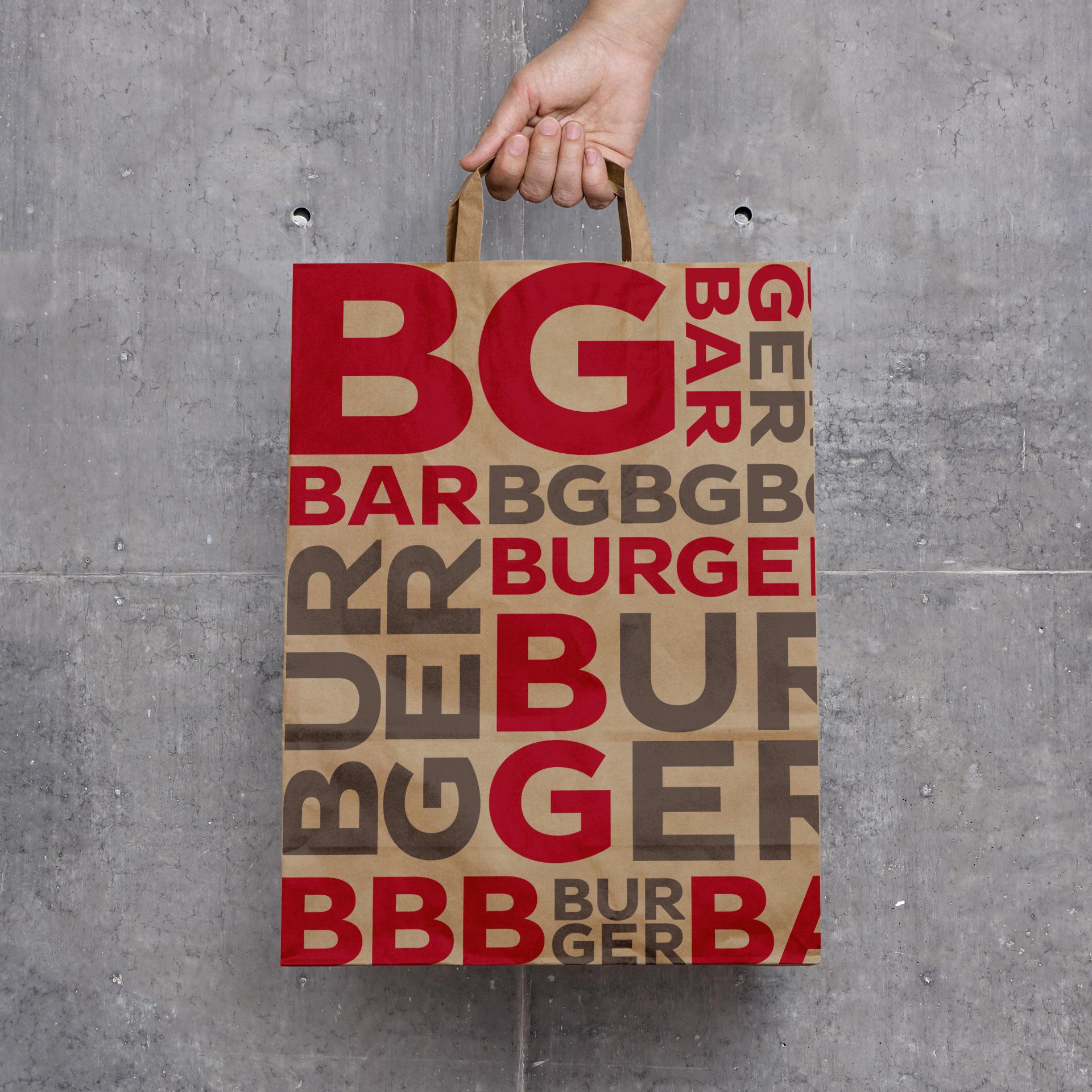 Dizajn kese za restoran BG Burger Bar, Beograd
