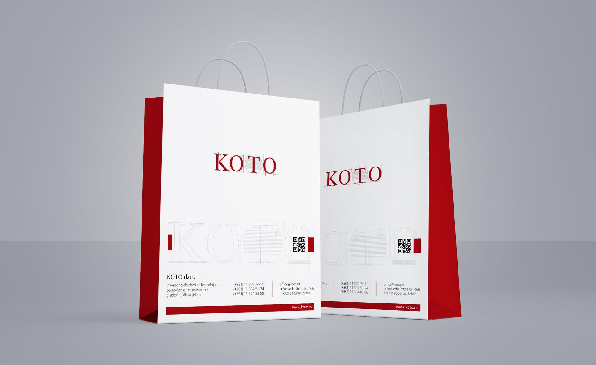 Dizajn kese za građevinsku firmu KOTO