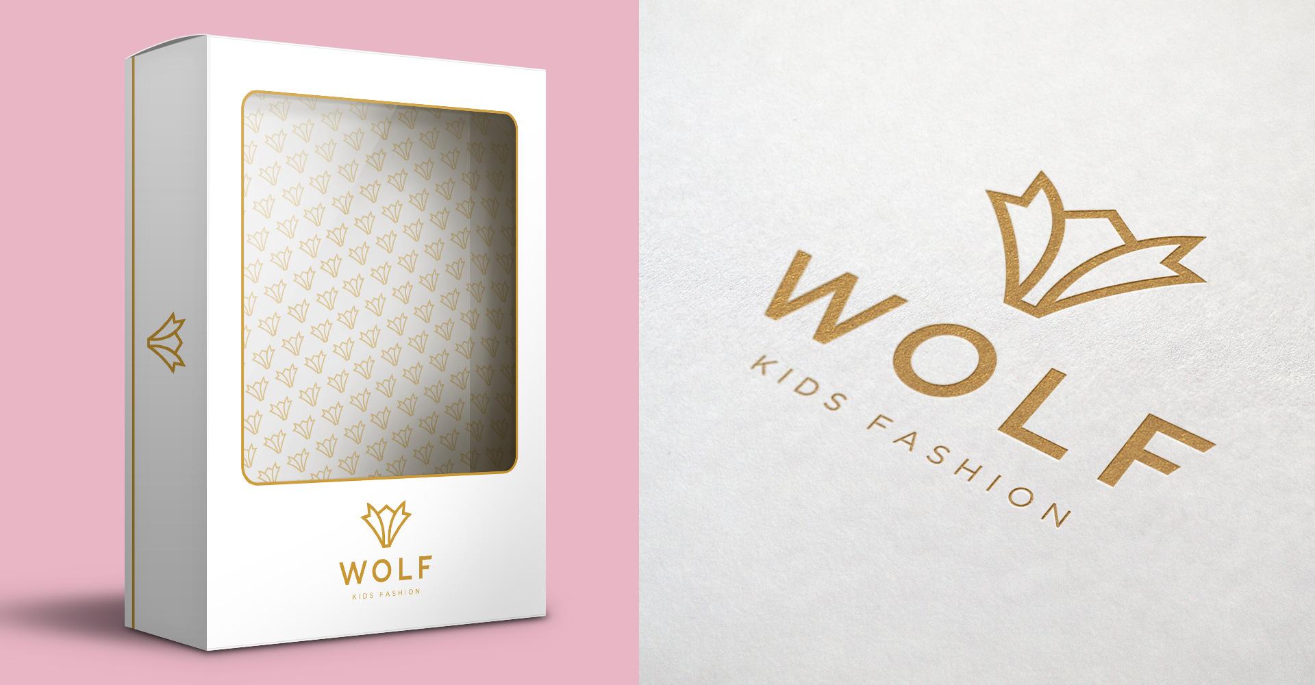 Dizajn pakovanja za dečiju odeću Wolf