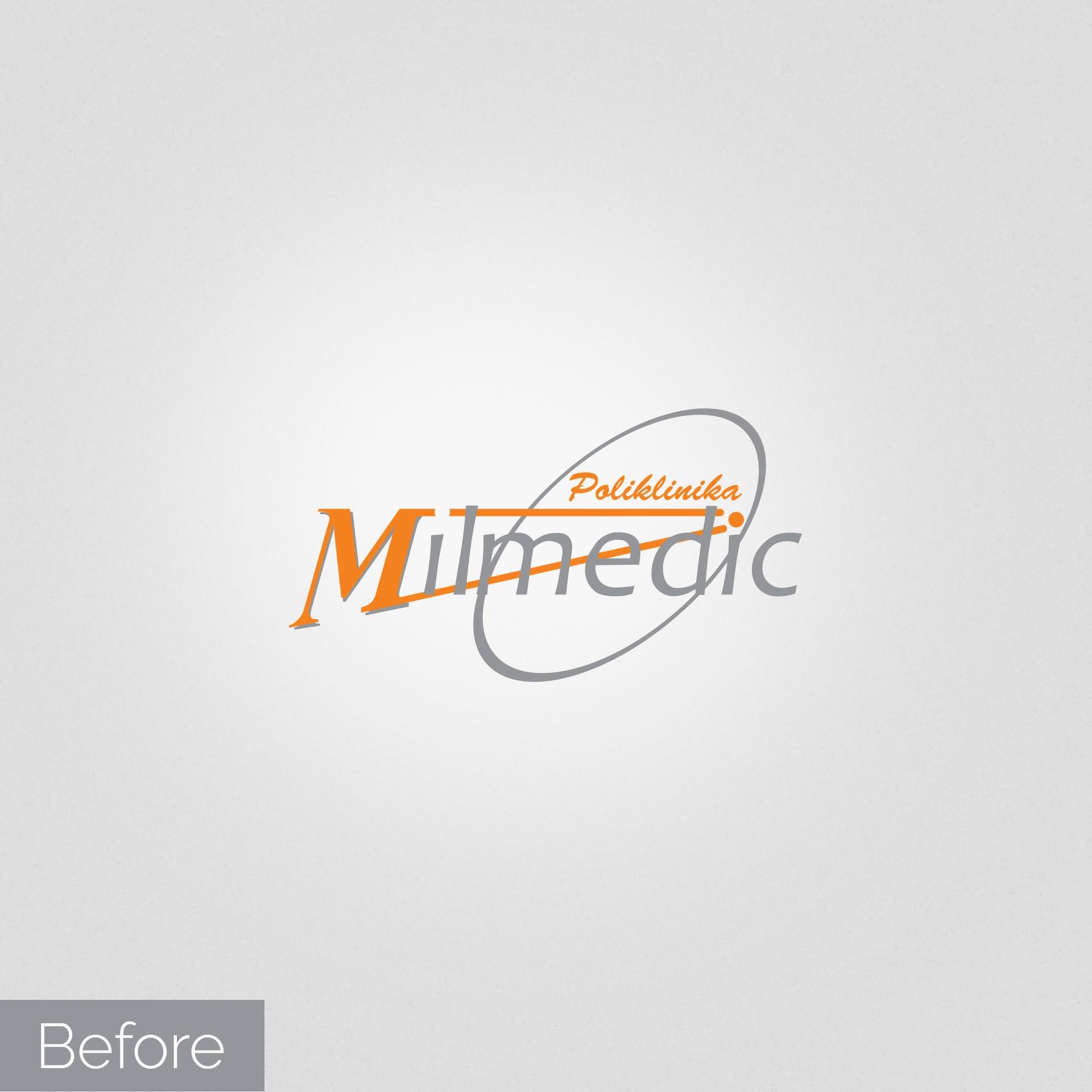 Redizajn logotipa za Milmedic kliniku - Staro rešenje