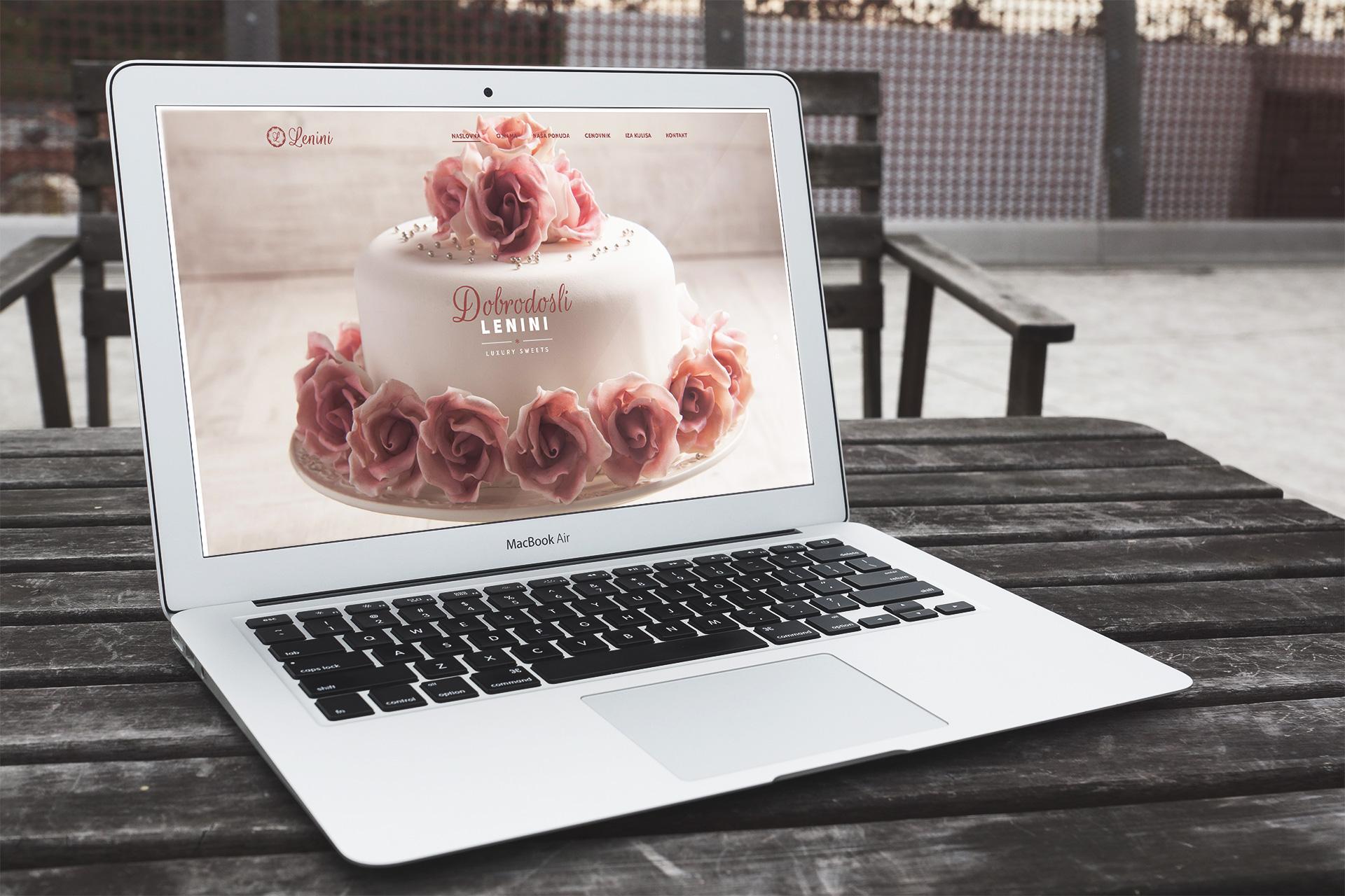 Dizajn i izrada web sajta poslastičarnice Lenini