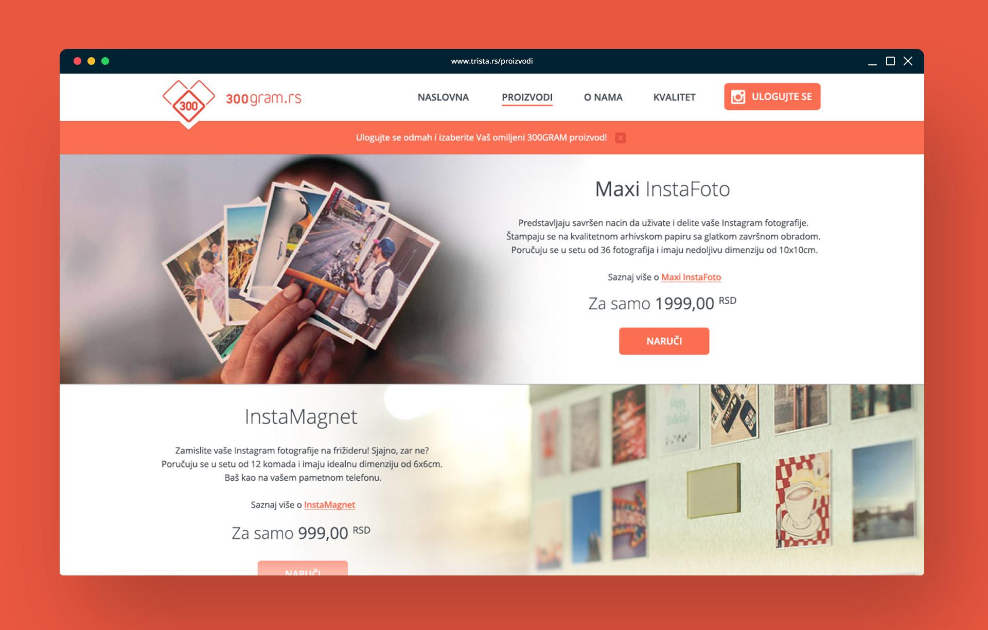 Dizajn web sajta i aplikacije za trista.rs