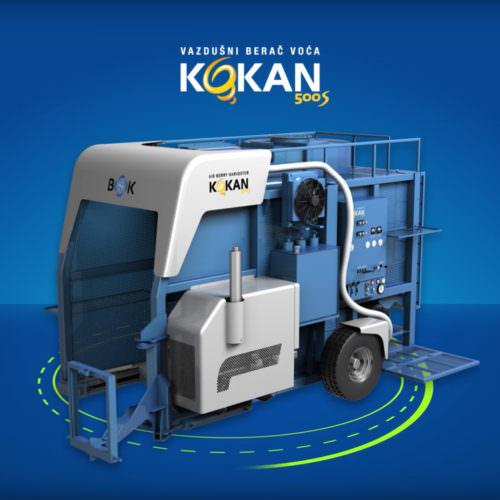 Dizajn promotivnog video materijala za vazdušni berač voća Kokan kompanije BSK