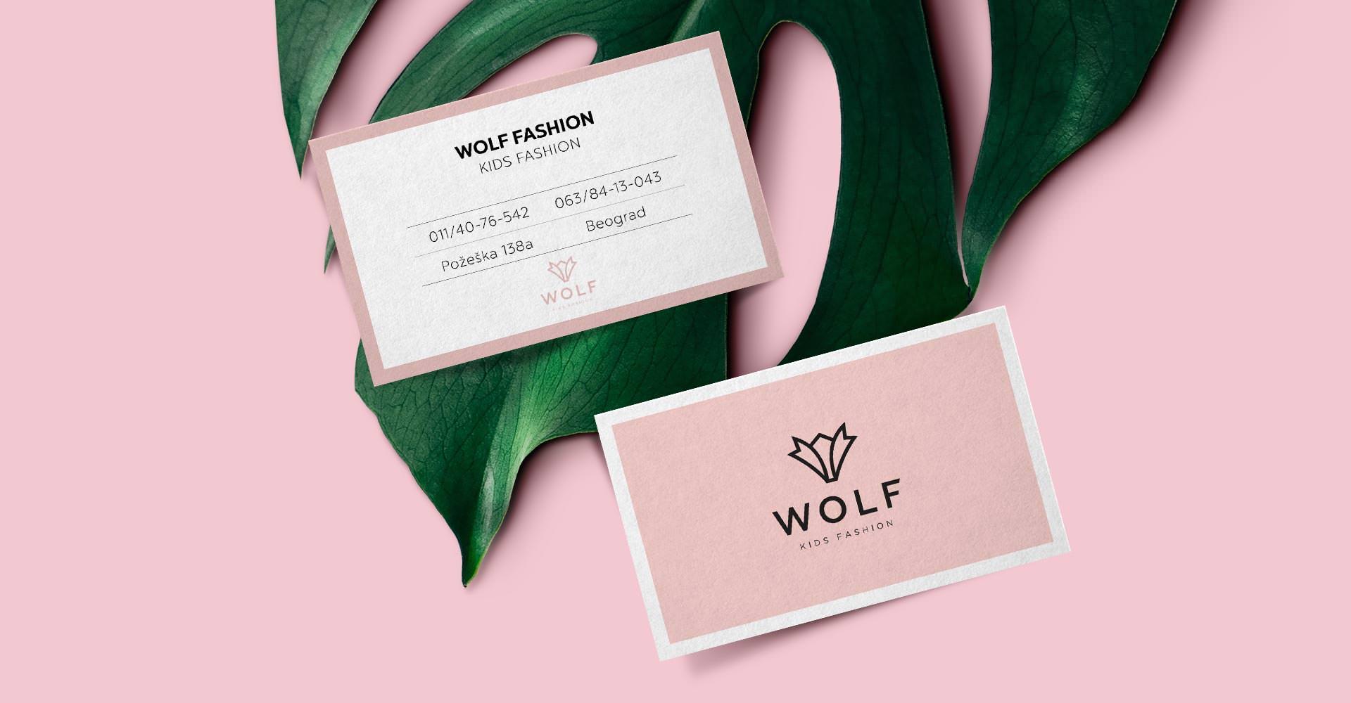 Dizajn i izrada vizitkarte za Wolf fashion dečiju kolekciju