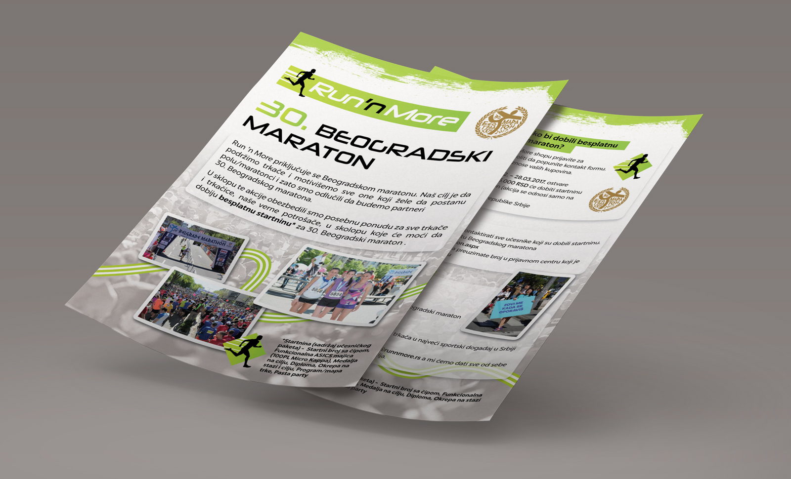 Dizajn i izrada flajera za Sport Vision, akcija Run n More prodavnice