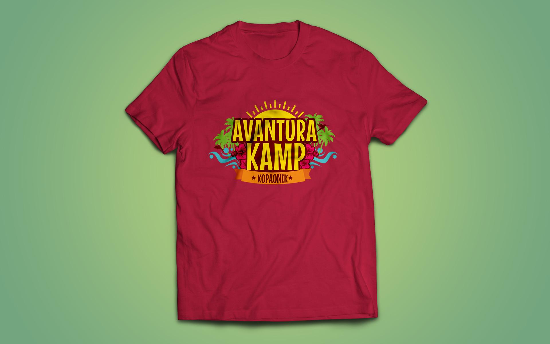 Dizajn majice za Avanturjija dečije kampove