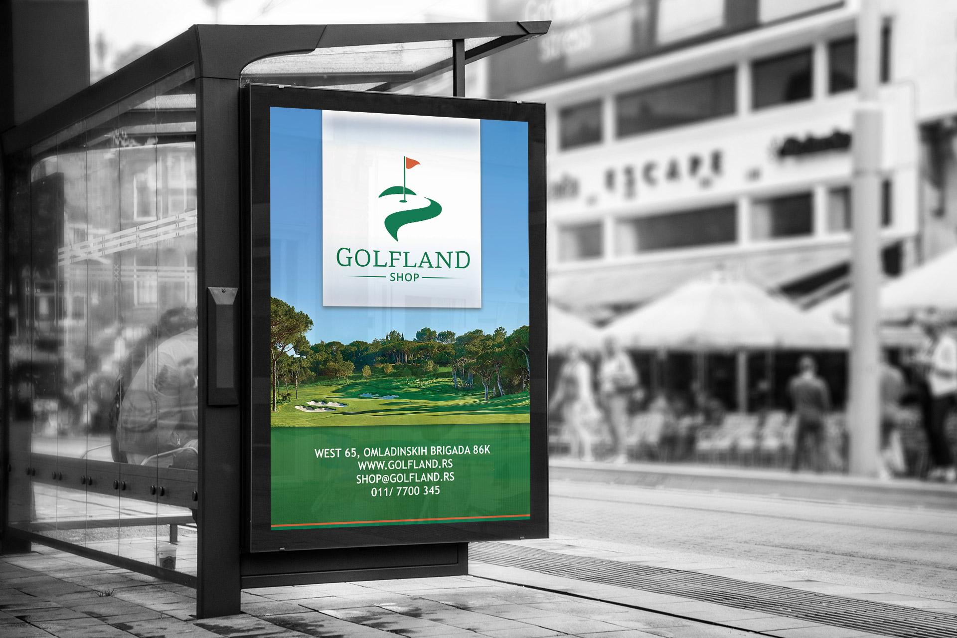 Dizajn bilborda za Golfland Shop & Tour iz Beograda