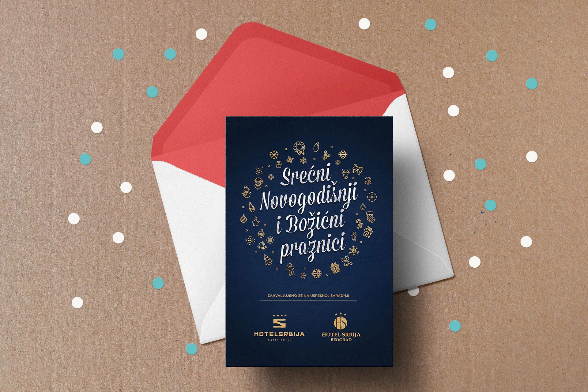 Dizajn novogodišnje čestitke za Hotel Srbiju