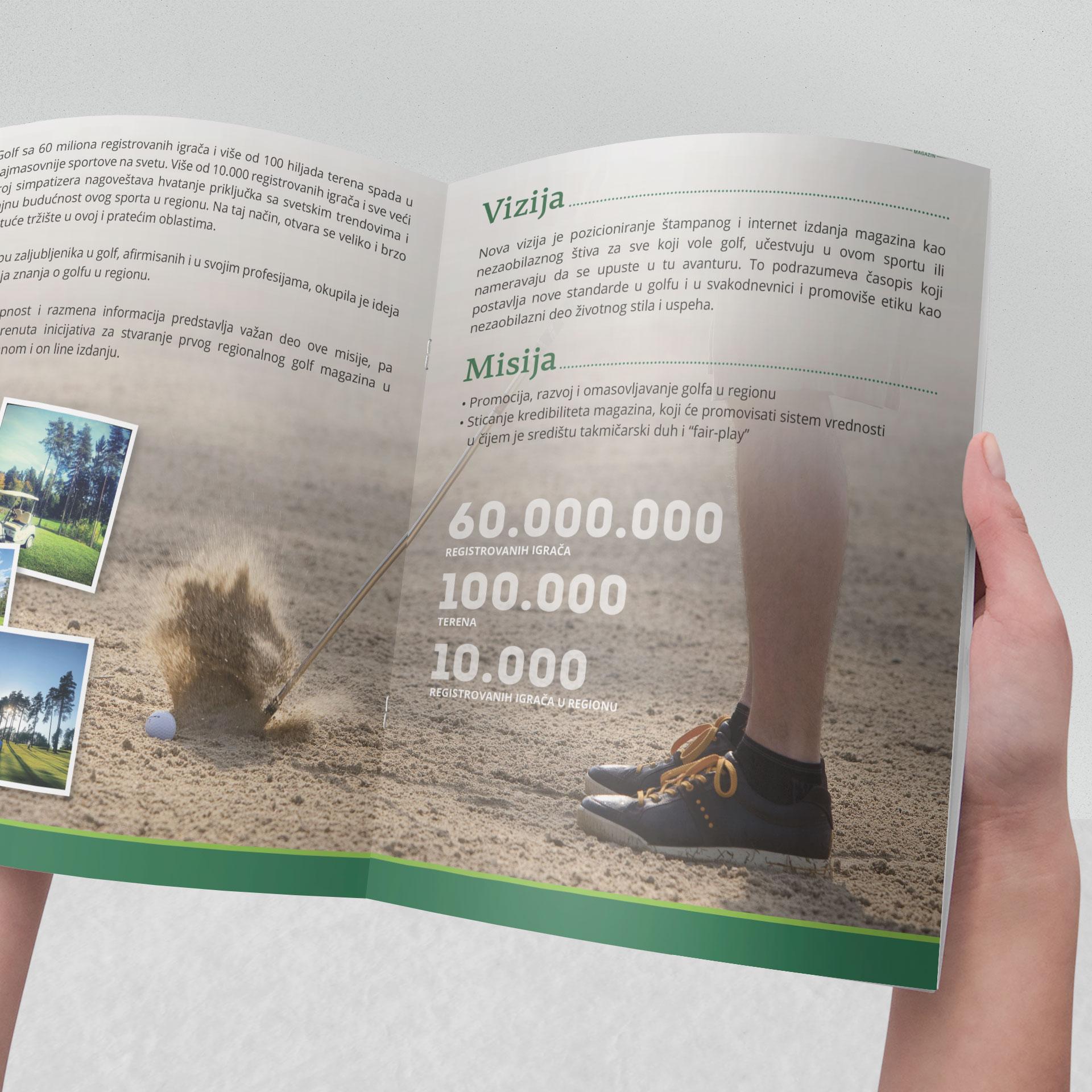 Dizajn brošure za Golfland Shop & Tour