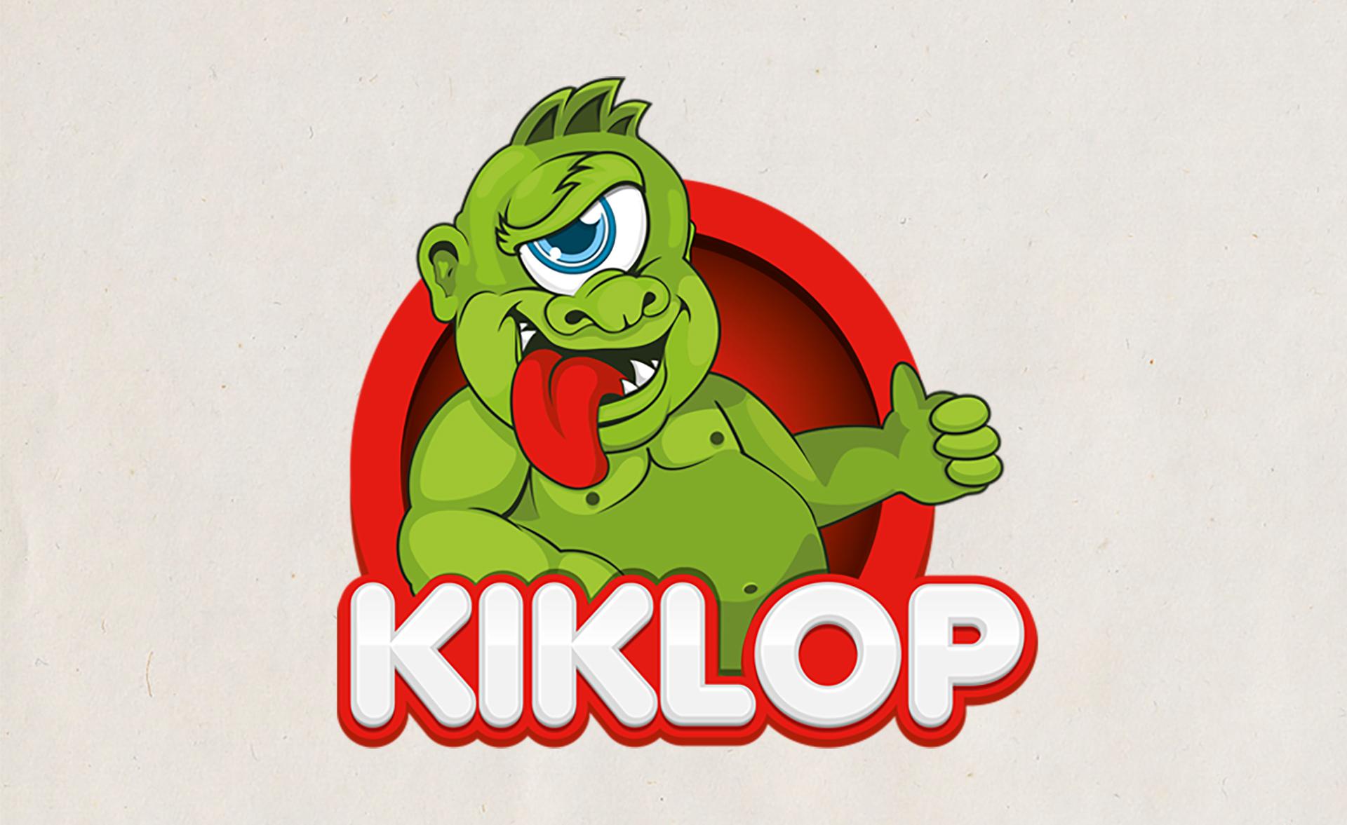 Dizajn maskote za fast food Kiklop