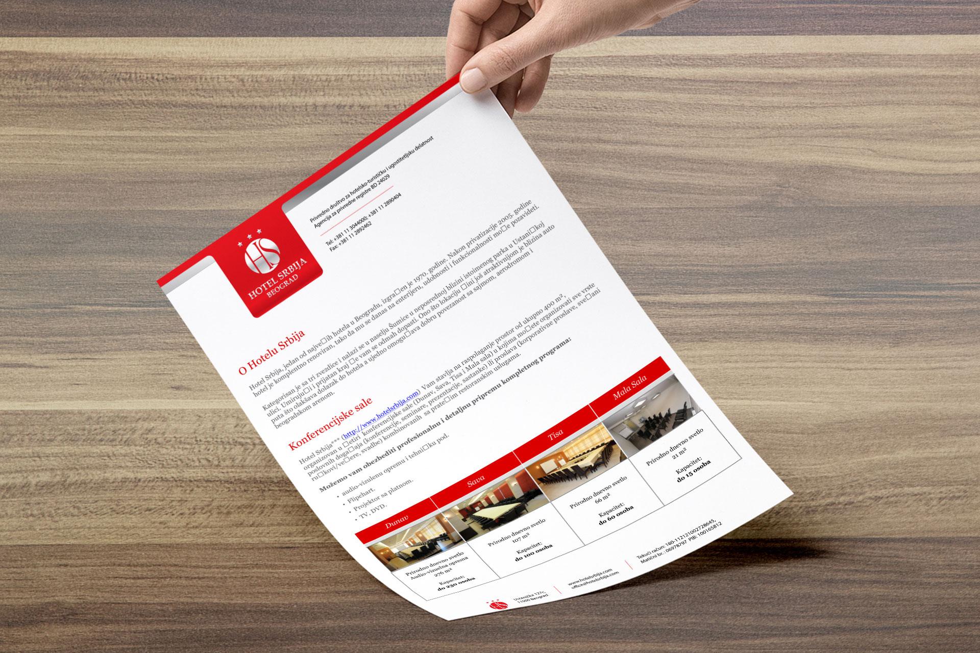 Dizajn šablona za promotivnu ponudu hotela Srbije