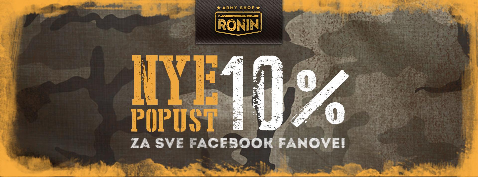 Dizajn facebook vizuala za Ronin army shop